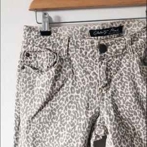 Celebrity Pink Leopard print skinny jeans
